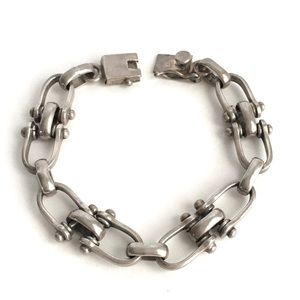Vintage Taxco Horse Bit Bracelet Sterling Silver